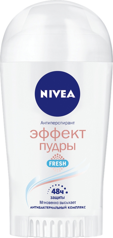 Антиперспирант стик Nivea Эффект пудры, Fresh, 40 мл косметика для мамы nivea дезодорант антиперспирант шариковый эффект пудры 50 мл