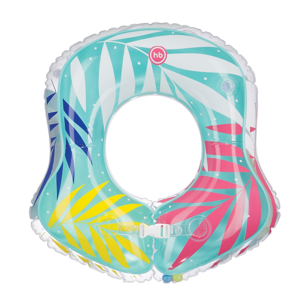 Круг для купания Happy Baby BALOO разноцветный надувной круг happy baby swimmer 121005