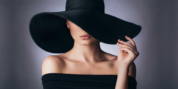 Картина Экорамка Девушка в шляпе, Холст