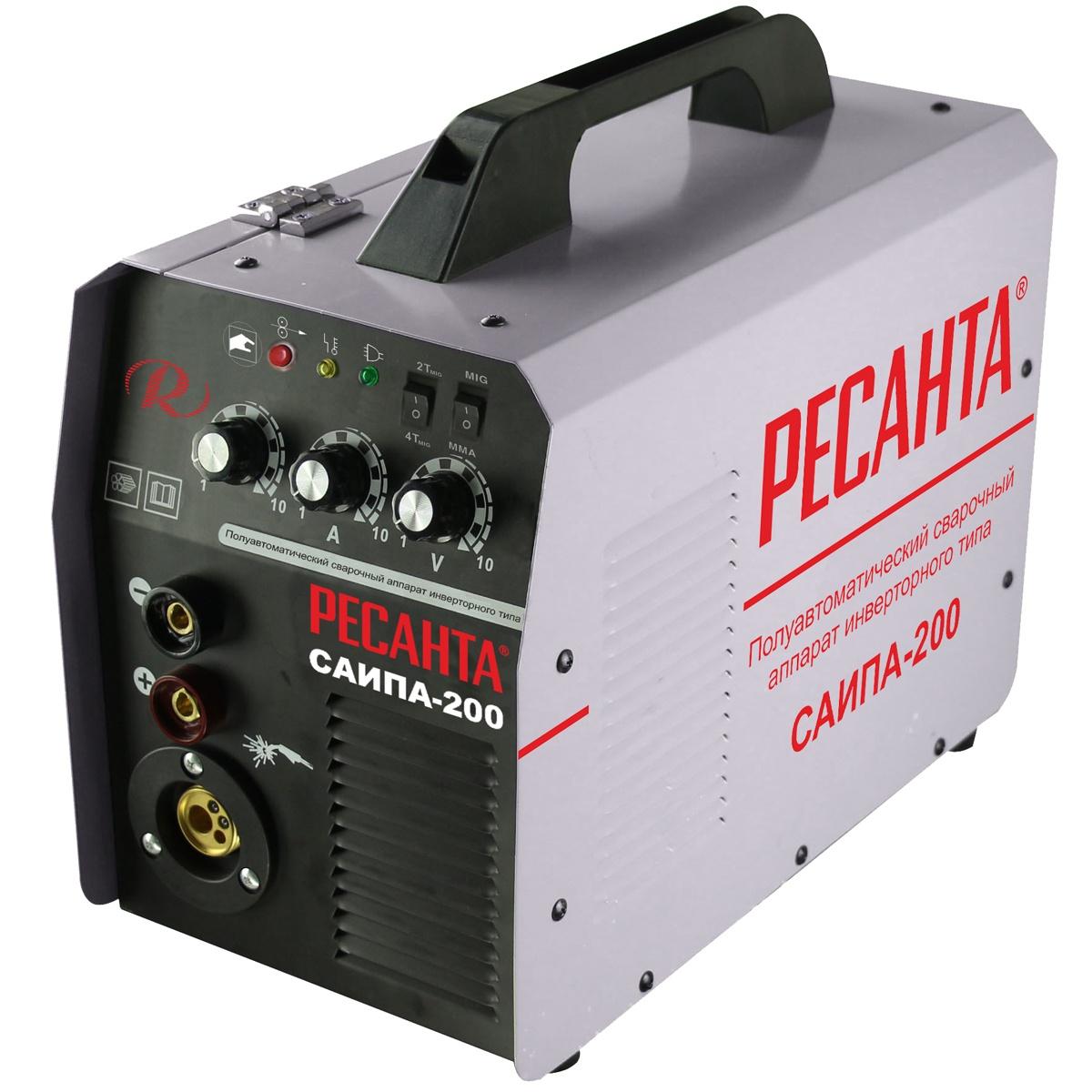 Сварочный аппарат РЕСАНТА САИПА-200 инверторный сварочный аппарат maxcut mc 200