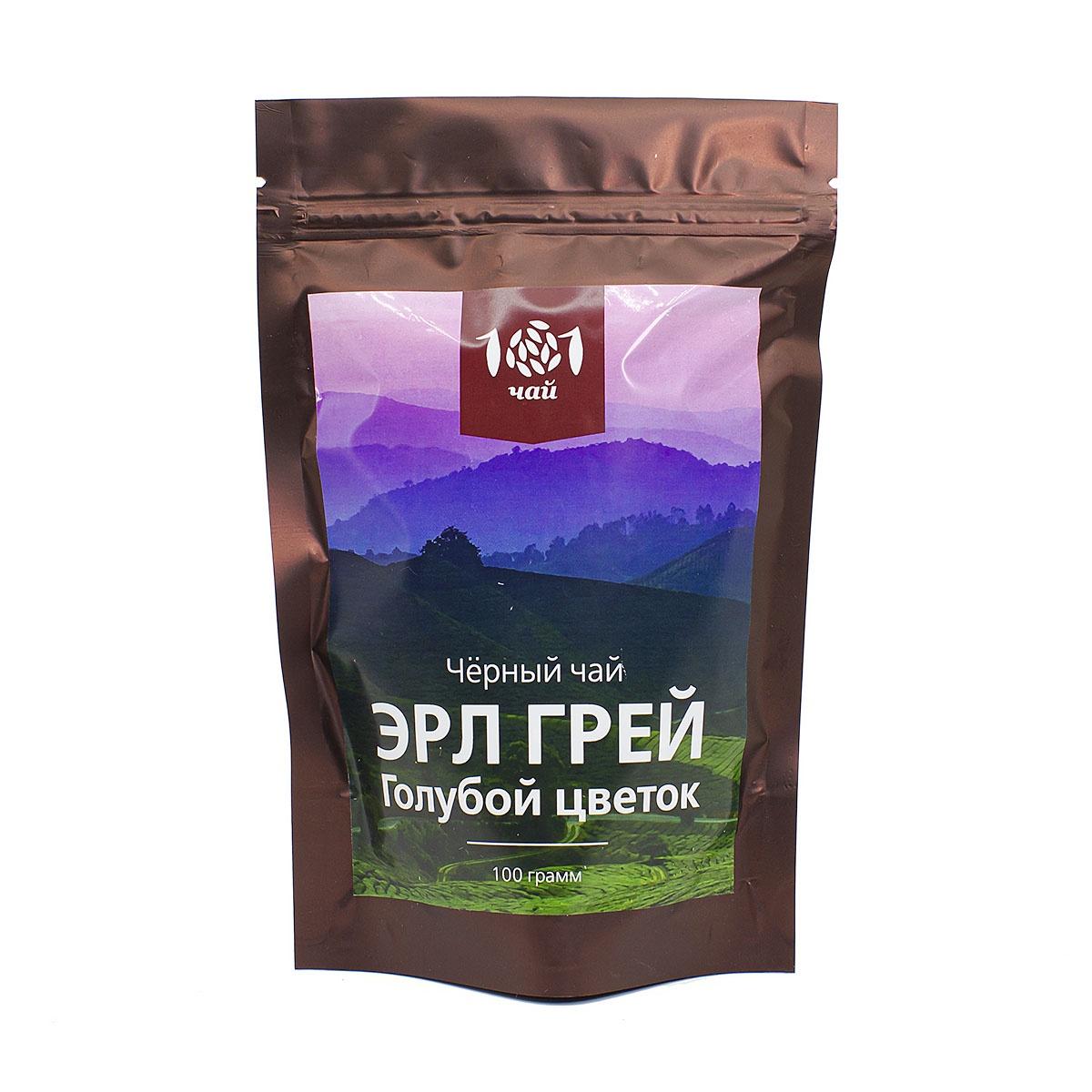 Чай листовой 101 чай Черный ароматизированный Эрл Грей Голубой цветок, 100 г сша lijia fen чай запас 30мл контроль жидкого экстракта масла уменьшить поры освежающих баланс воды и пополнение масла