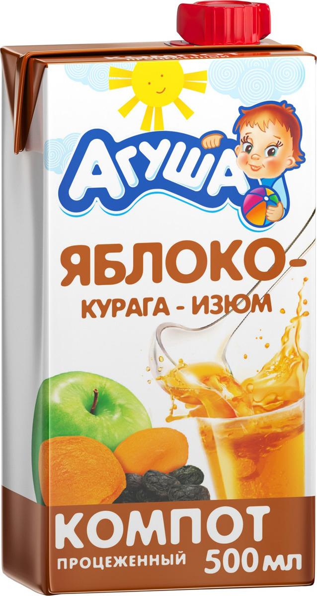 Агуша Компот Курага-Изюм-Яблоко, с 3 лет, 500 мл соки и нектары агуша агуша яблоко и шиповник с 5 мес 150 мл