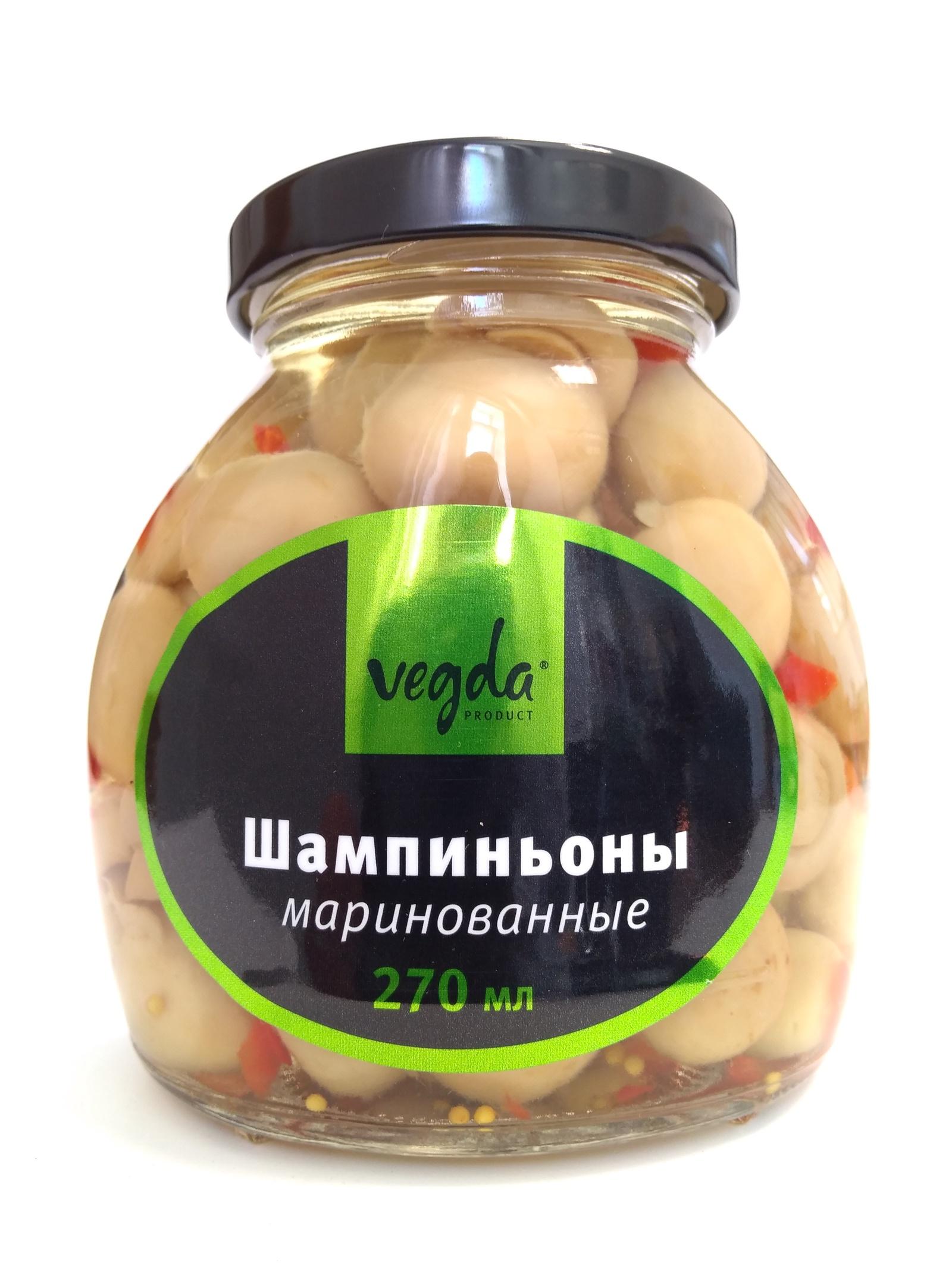 Грибные консервы Vegda Product шампиньоны маринованные Стеклянная банка, 250 стоимость