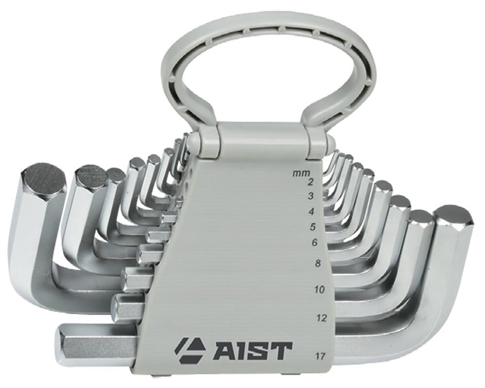 Набор ключей Aist Г-обр. шестигран ключ aist 1543025hw г обр шестигр h2 5 экстрадлинный с шаровид наконеч