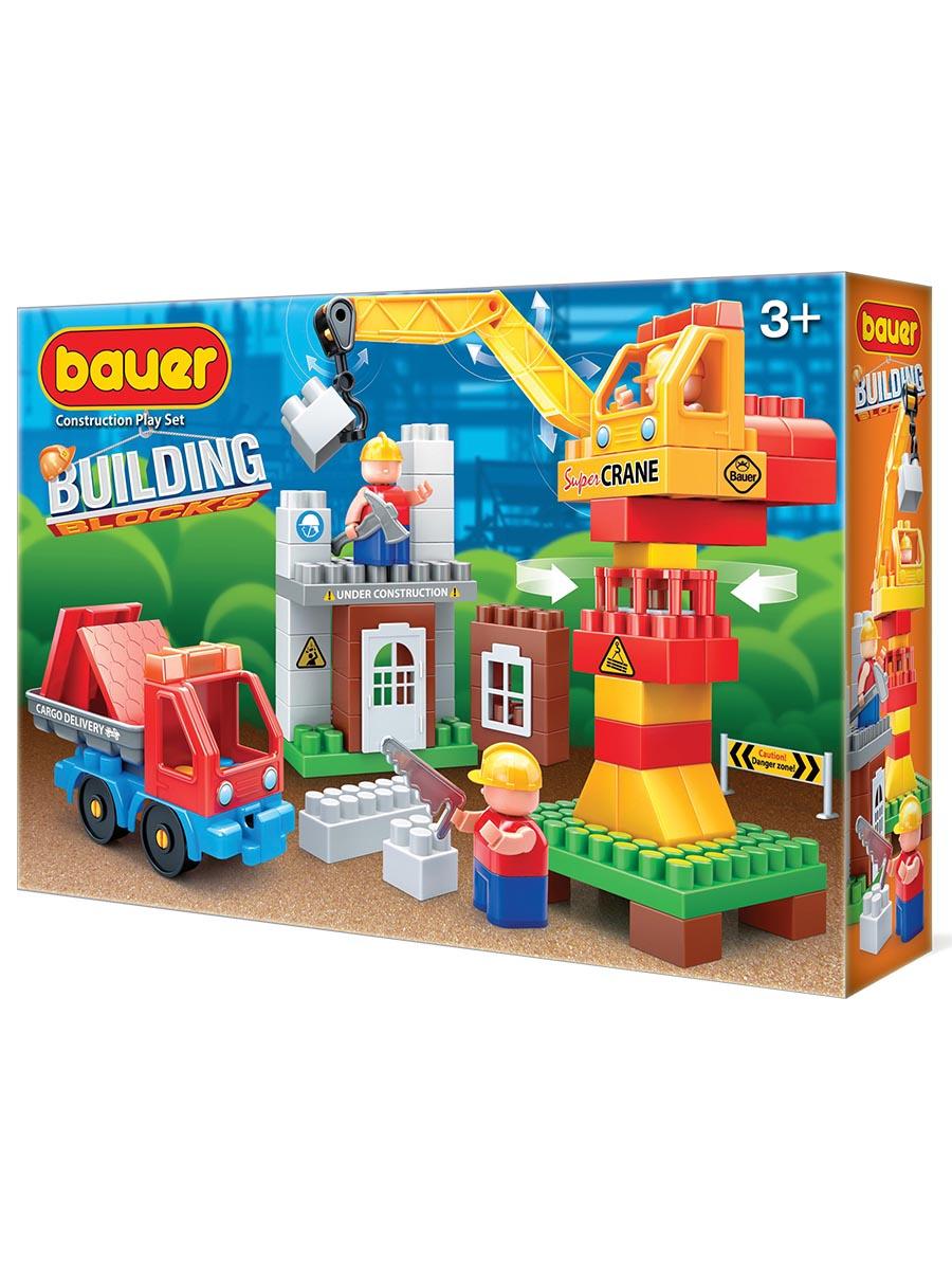 Пластиковый конструктор BAUER Конструктор Бауер Стройка набор строительная площадка с краном и грузовиком bauer bauer конструктор avia 200 элементов