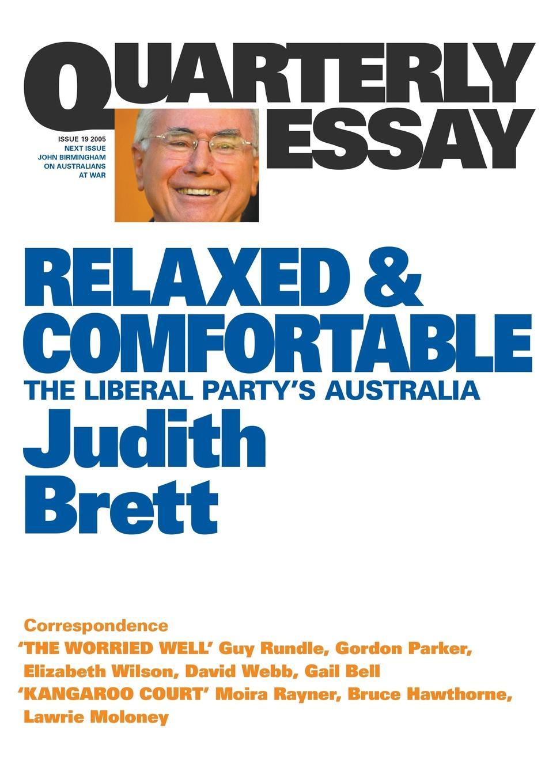 Judith Brett. Relaxed . Comfortable QE19