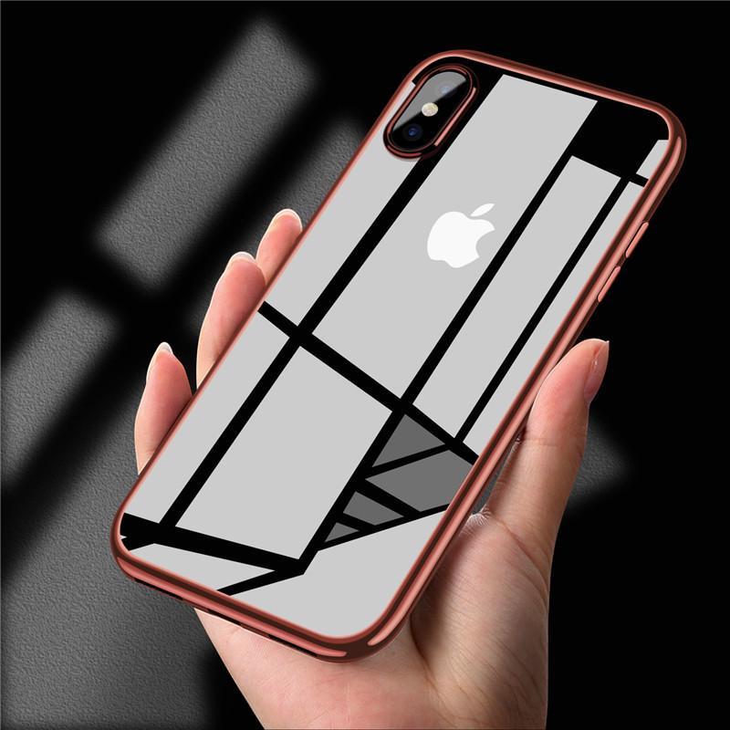 Чехол для сотового телефона No Name Чехол задней крышки смартфона для iPhone: 5 / SE / 6 / 6s / 6 Plus / 6s Plus / 7 Plus / X, серебристый аксессуар чехол ipapai для iphone 6 plus ассорти морской