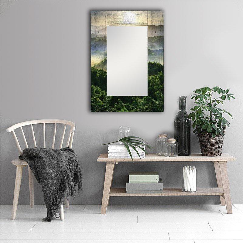 Зеркало интерьерное Дом Корлеоне Зеркало настенное Зеленая долина 55 х 55 см