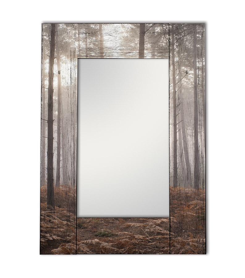 Зеркало интерьерное Дом Корлеоне Зеркало настенное Лесной туман 65 х 65 см