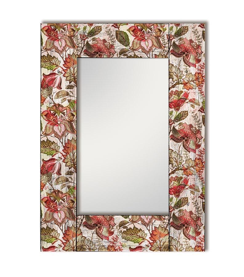 Зеркало интерьерное Дом Корлеоне Зеркало настенное Цветы Прованс 65 х 65 см