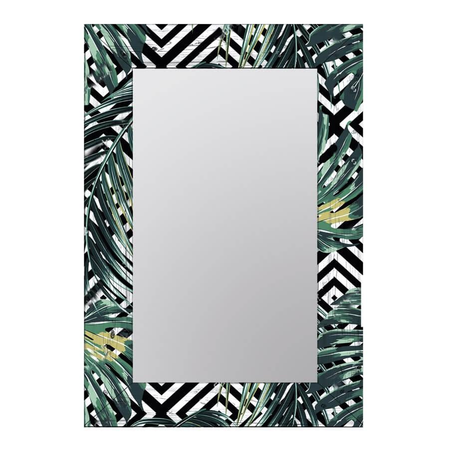 Зеркало интерьерное Дом Корлеоне Зеркало настенное Пальмовые листья 80 х 80 см зеркало интерьерное дом корлеоне зеркало настенное мозаика 80 х 80 см