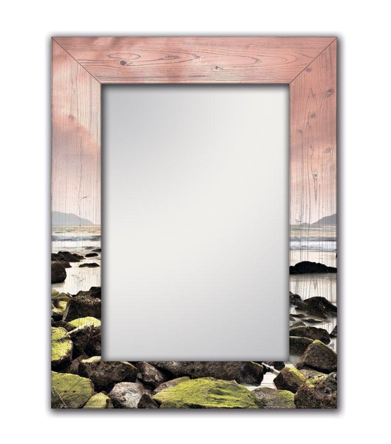 Зеркало интерьерное Дом Корлеоне Зеркало настенное Морской закат 75 х 110 см