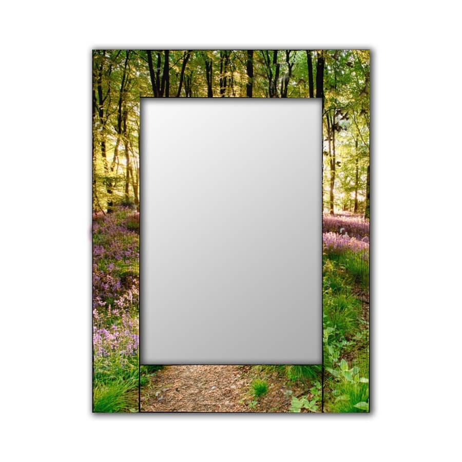 Зеркало интерьерное Дом Корлеоне Зеркало настенное Лесные цветы 65 х 65 см