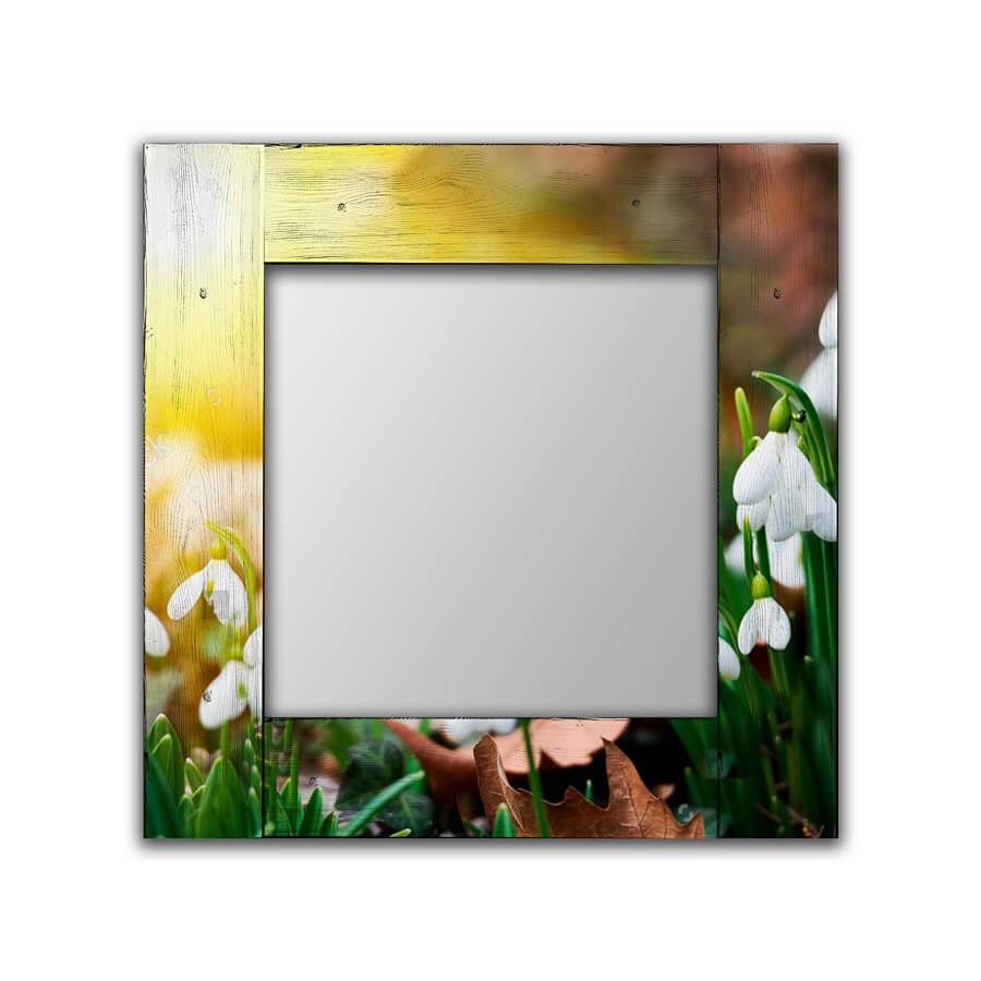 Зеркало интерьерное Дом Корлеоне Зеркало настенное Подснежники 75 х 110 см