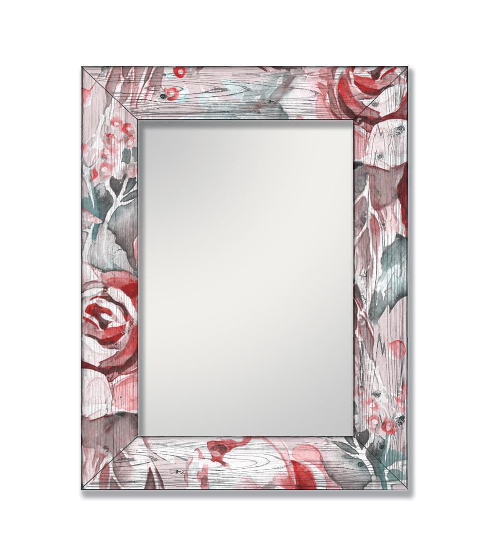Зеркало интерьерное Дом Корлеоне Зеркало настенное Розы 65 х 65 см