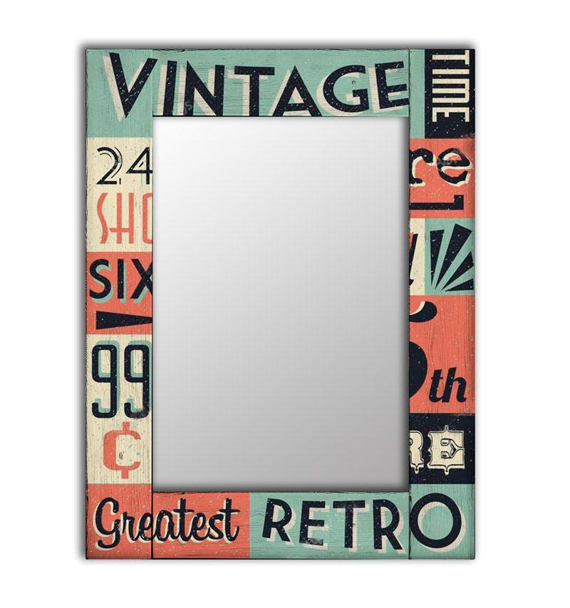 цена Зеркало интерьерное Дом Корлеоне Зеркало настенное Винтаж 55 х 55 см онлайн в 2017 году