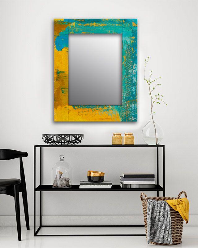 Зеркало интерьерное Дом Корлеоне Зеркало настенное Гранж Блю 65 х 65 см Дом Корлеоне