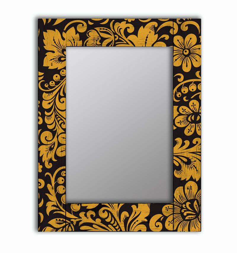 Зеркало интерьерное Дом Корлеоне Зеркало настенное Желтые цветы 65 х 65 см