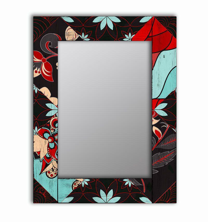 Зеркало интерьерное Дом Корлеоне Зеркало настенное Весенние цветы 55 х 55 см