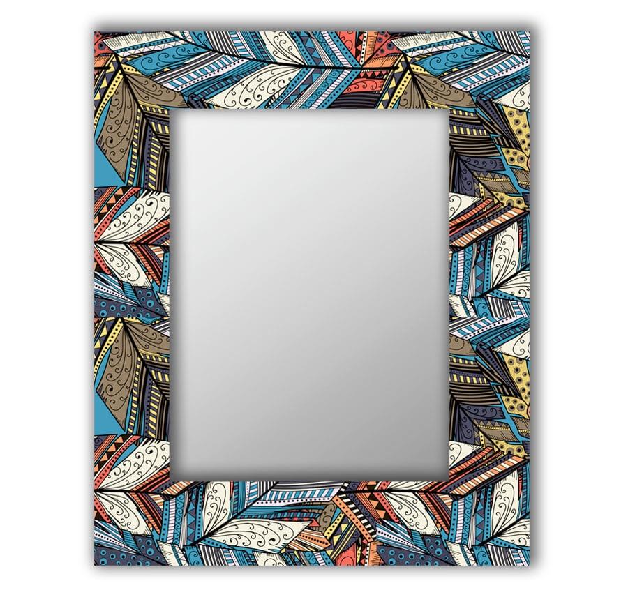Зеркало интерьерное Дом Корлеоне Зеркало настенное Синие перья 50 х 65 см