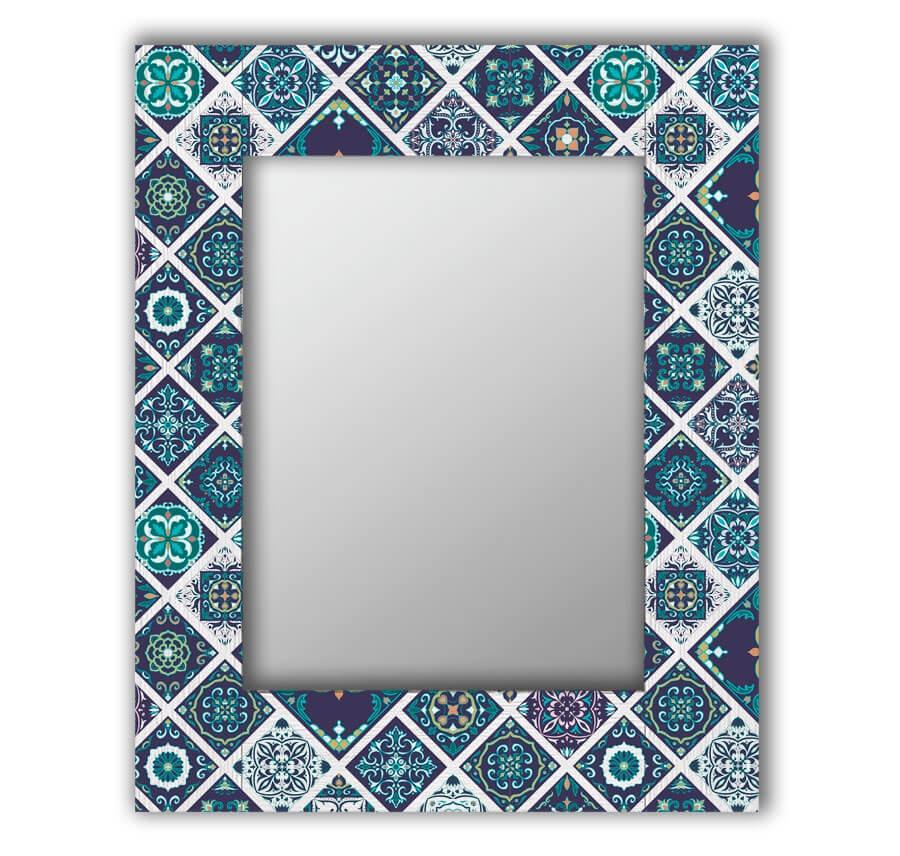 Зеркало интерьерное Дом Корлеоне Зеркало настенное Португальская плитка 65 х 65 см монитор 32 aoc q3277pqu черный a mva 2560x1440 300 cd m^2 4 ms dvi hdmi displayport vga аудио usb