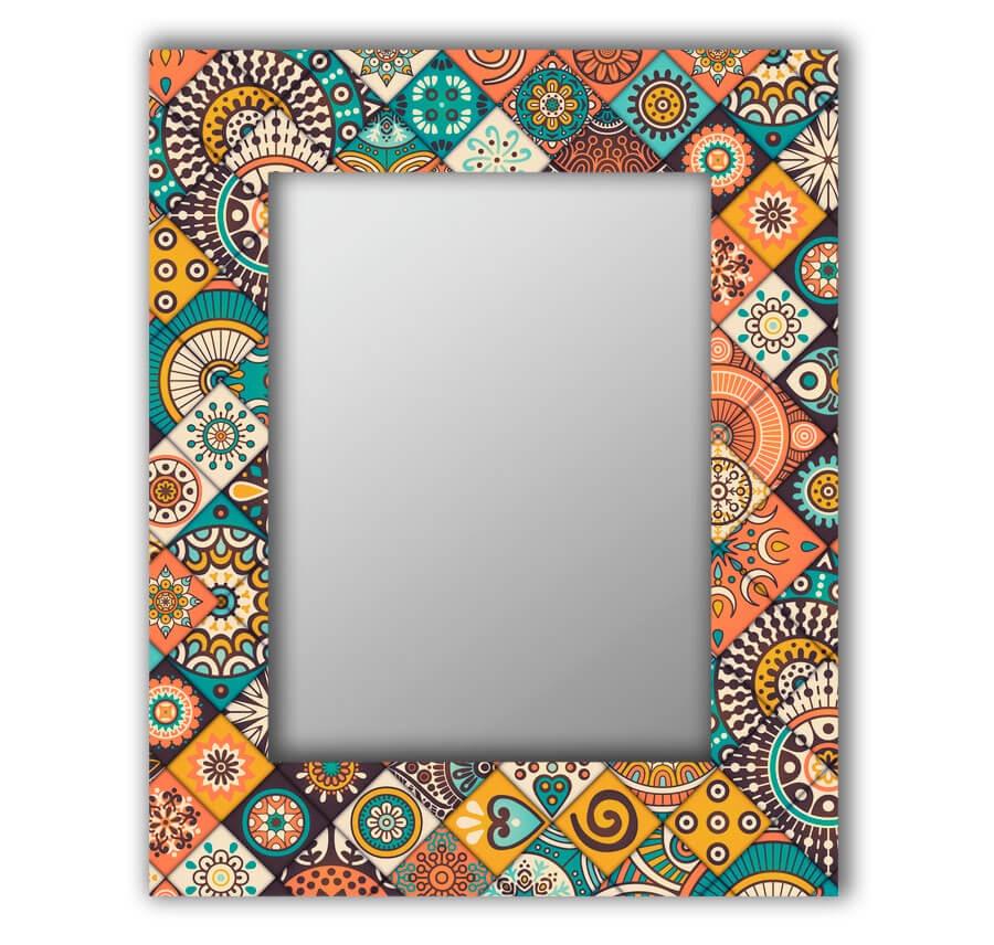 Зеркало интерьерное Дом Корлеоне Зеркало настенное Индийская плитка 80 х 80 см
