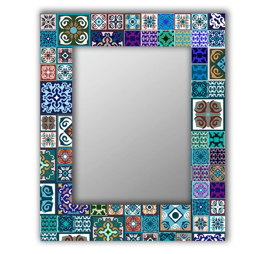 Зеркало интерьерное Дом Корлеоне Зеркало настенное Восточная плитка 65 х 65 см