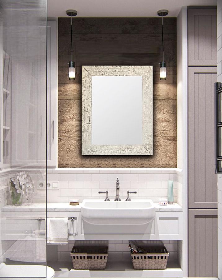 Зеркало интерьерное Дом Корлеоне Зеркало настенное Кракелюр 80 х 80 см