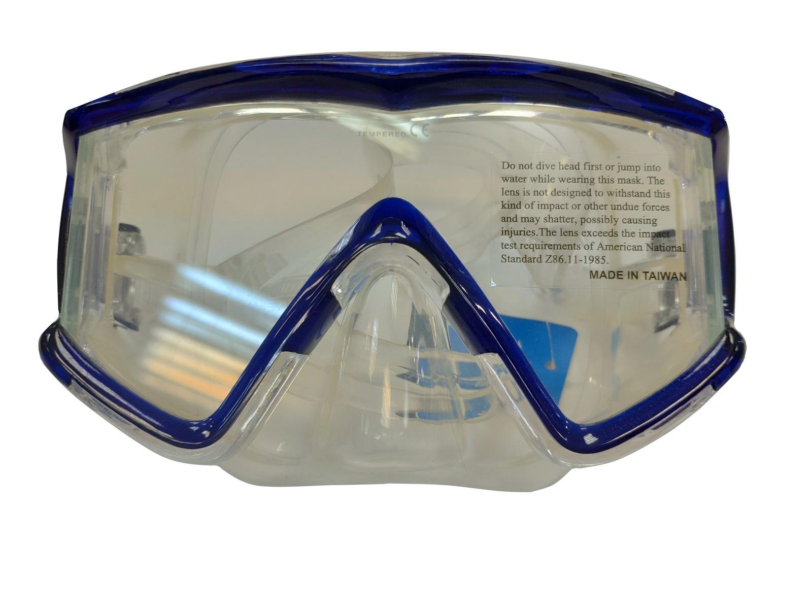 Маска для плавания AR00086TBU, синий, прозрачный недорго, оригинальная цена