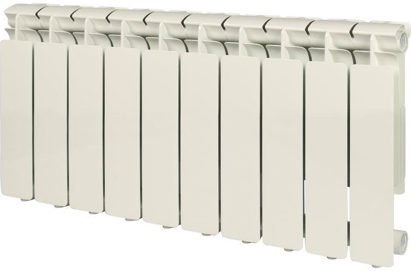 Секционный радиатор Stout Bravo 350, алюминиевый, SRA-0110-035010, белый, 10 секций радиатор отопления stout bravo 350 12 секций алюминиевый боковое подключение