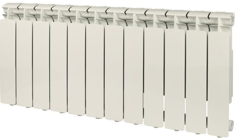 Секционный радиатор Stout Bravo 350, алюминиевый, SRA-0110-035012, белый, 12 секций roda алюминиевый 12 секций gsr 47 35012