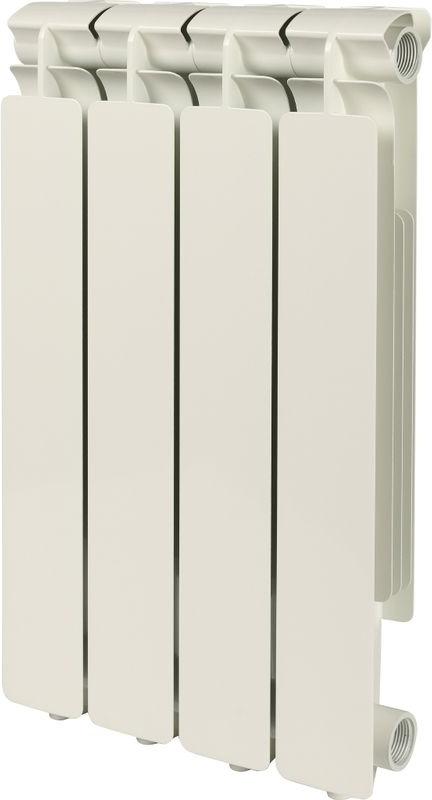 Секционный радиатор Stout Bravo 500, алюминиевый, SRA-0110-050004, белый, 4 секции радиатор алюминиевый konner lux 4 секции 500 80