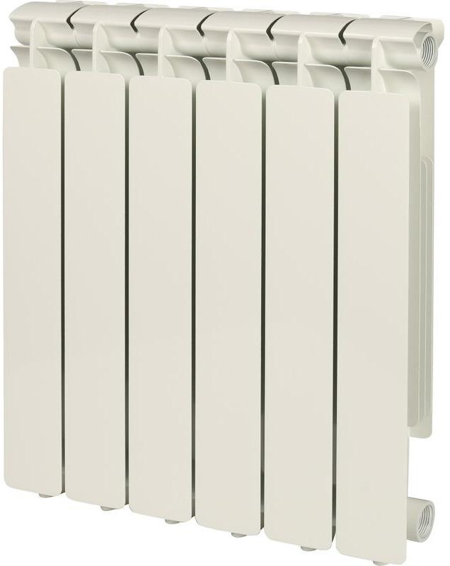 Секционный радиатор Stout Bravo 500, алюминиевый, SRA-0110-050006, белый, 6 секций цена