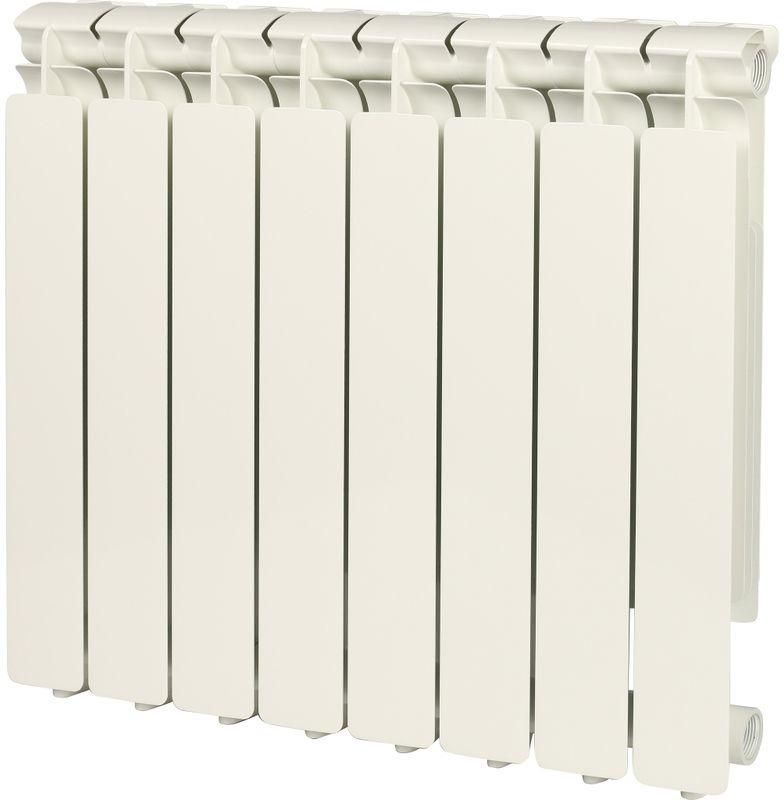 Секционный радиатор Stout Bravo 500, алюминиевый, SRA-0110-050008, белый, 8 секций 500 5000 500