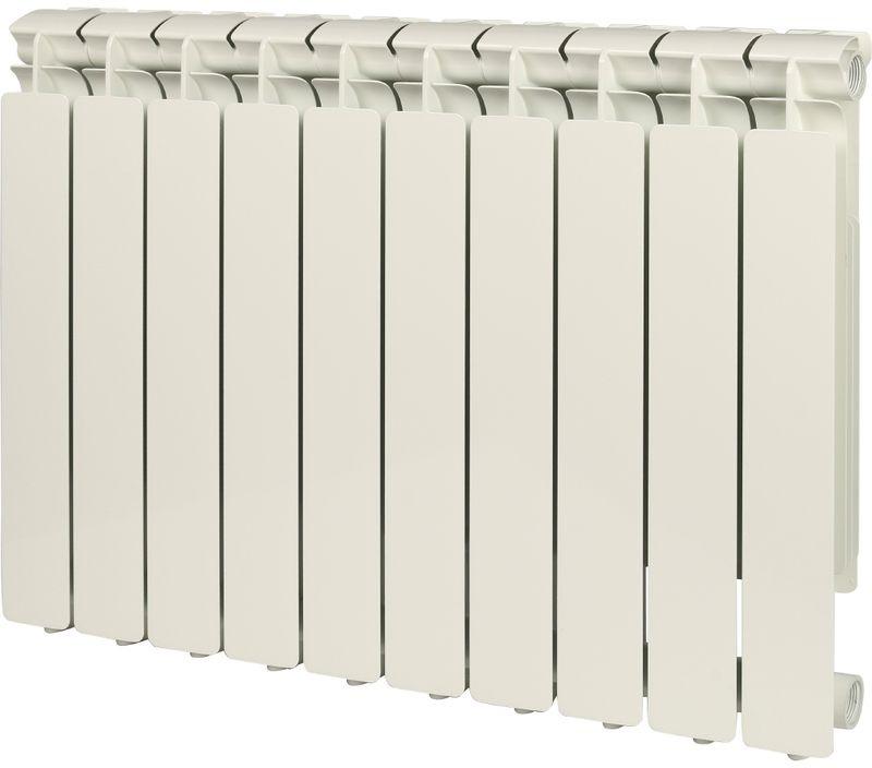 Секционный радиатор Stout Bravo 500, алюминиевый, SRA-0110-050010, белый, 10 секций радиатор отопления stout bravo 350 12 секций алюминиевый боковое подключение