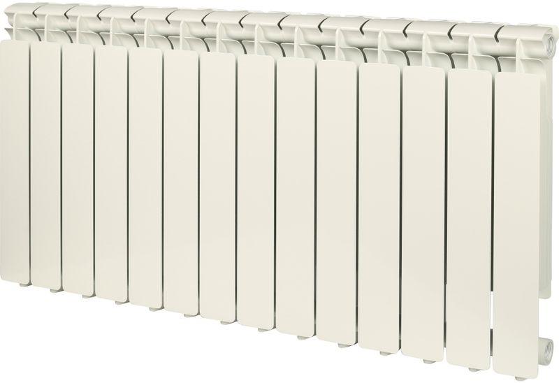 Секционный радиатор Stout Bravo 500, алюминиевый, SRA-0110-050014, белый, 14 секций радиатор отопления stout bravo 350 12 секций алюминиевый боковое подключение
