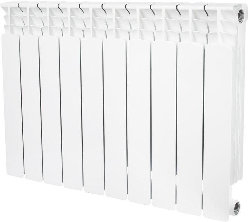 Секционный радиатор Stout Space 500, биметаллический, SRB-0310-050010, белый, 10 секций evolution evb500 500 10 секций