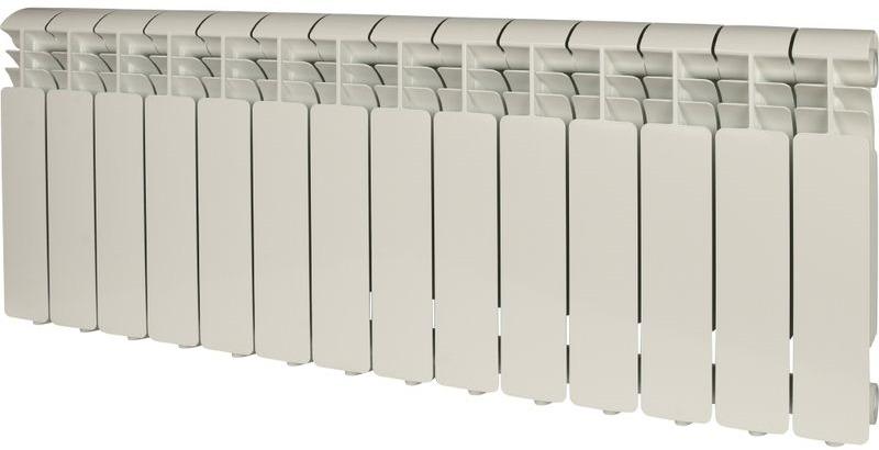 Секционный радиатор Global Iseo 350, алюминиевый, IS035014, белый, 14 секций global iseo 350 12 секций