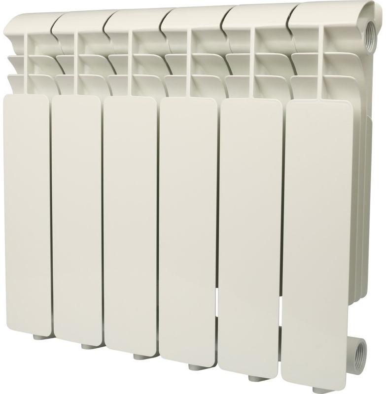 Секционный радиатор Global Iseo 350, алюминиевый, IS035006, белый, 6 секций global iseo 350 12 секций