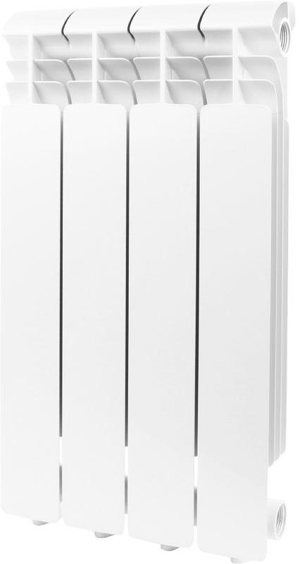 Секционный радиатор Global Iseo 500, алюминиевый, IS05001004, белый, 4 секции радиатор алюминиевый konner lux 4 секции 500 80