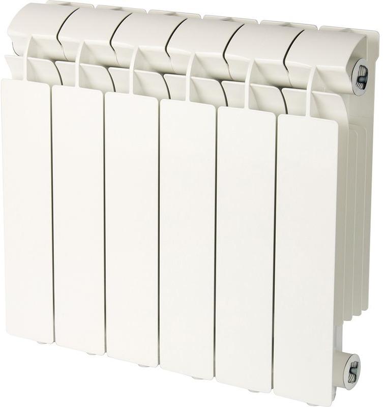 Секционный радиатор Global Vox 350, алюминиевый, VX03501006, белый, 6 секций