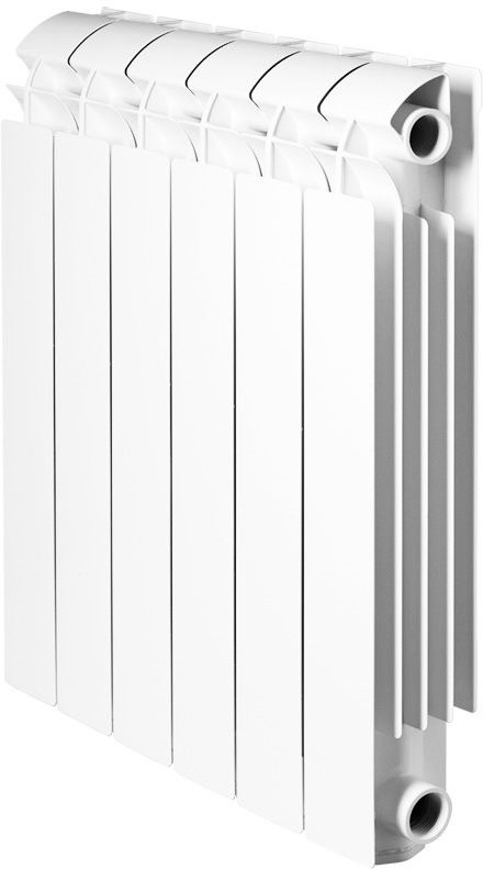 Секционный радиатор Global Vox 350, алюминиевый, VX03501008, белый, 8 секций