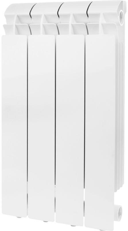 Секционный радиатор Global Vox 500, алюминиевый, VX05001004, белый, 4 секции радиатор алюминиевый konner lux 4 секции 500 80