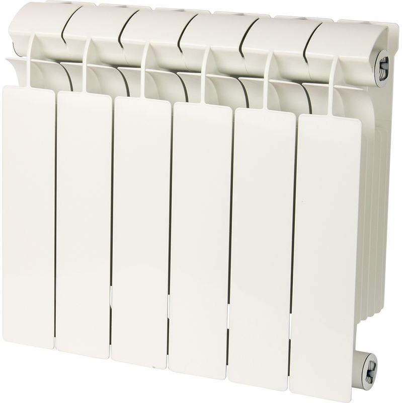 Секционный радиатор Global Style Plus 350, биметаллический, STP03501006, белый, 6 секций global
