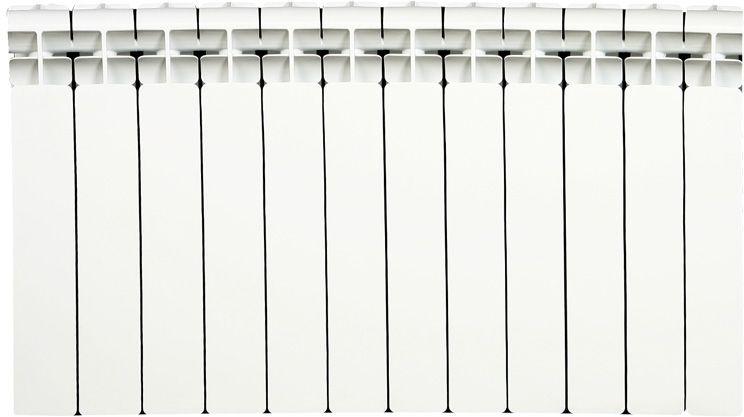 Секционный радиатор Rifar Base 350, биметаллический, 51368, белый, 12 секций kermi profil k profil k fk o 12 400 400 радиатор стальной панельный боковое подключение белый ral 9016