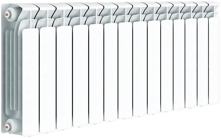 Секционный радиатор Rifar Base 350, биметаллический, 51370, белый, 14 секций kermi profil v profil v ftv 22 500 2600 радиатор стальной панельный нижнее подключение белый ral 9016
