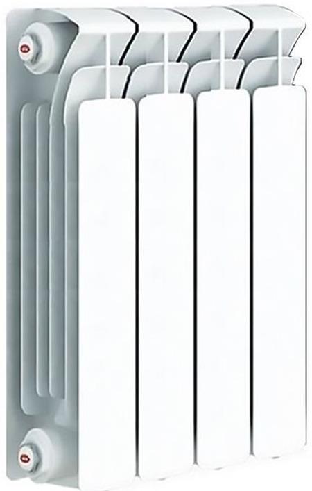 Секционный радиатор Rifar Base 350, биметаллический, 51361, белый, 4 секции радиатор отопления rifar base 350 4 секции