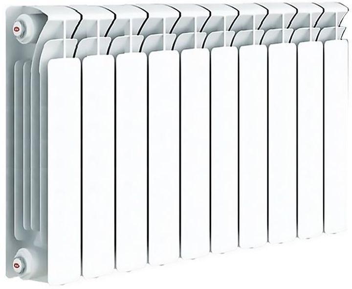 Секционный радиатор Rifar Base 500, биметаллический, 50927, белый, 10 секций kermi profil k profil k fk o 12 400 400 радиатор стальной панельный боковое подключение белый ral 9016