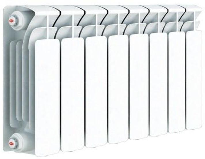 Секционный радиатор Rifar Base 350, биметаллический, 51365, белый, 8 секций kermi profil v profil v ftv 22 500 2600 радиатор стальной панельный нижнее подключение белый ral 9016