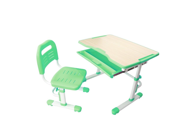 Парта FunDesk 221893, белый, светло-зеленый